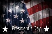 President's Day Background On Wood. poster