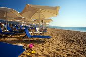 picture of nea  - Summer season in Nea Vrasna Greece early in the morning - JPG