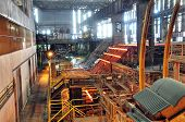 Production Of Steel In A Steel Mill - Production In Heavy Industry poster