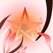 picture of wiccan  - A Beautiful Pink tone Wiccan star Pentagram - JPG