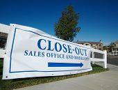 Close-Out Banner Real Estate Sign poster