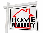 Home Warranty House for Sale Sign Guarantee 3d Illustration poster