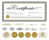 stock photo of certificate  - Vector Premium Certificate Template and Ornaments - JPG
