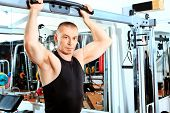 stock photo of body builder  - Mature sporty man in the gym centre - JPG