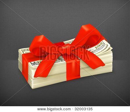 Money gift, vector