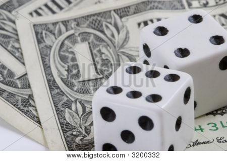 Casino Dice And The Dollar Note
