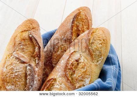 Crusty Artisan French Baguette Bread
