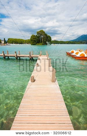 Annecy Lake Pier Crystal Clear