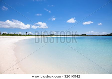 Tanjung Aan white sand  beach, Lombok, Indonesia