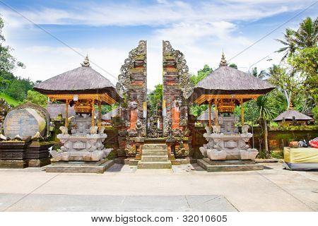 Gate of Gunung Kawi Temple and Candi (shrines)  Bali, Indonesia