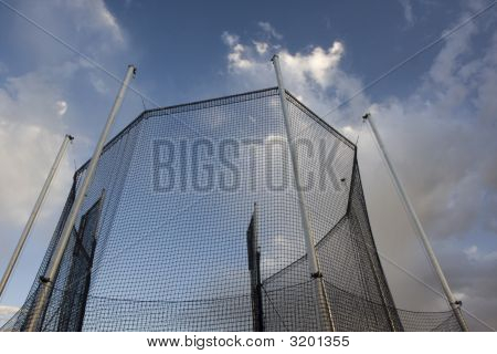 Protective Cage For A Hammer Throw Competition