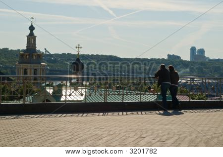 Couple Looking At The City