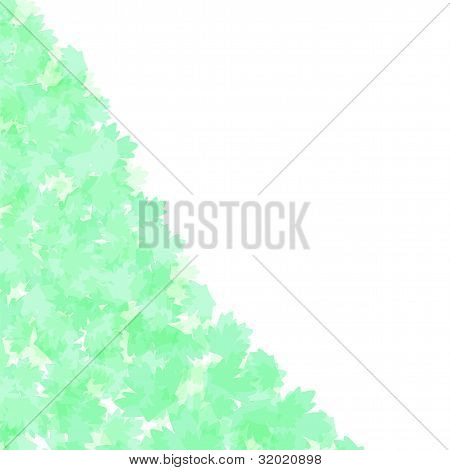 Spring leafs abstract border. vector background