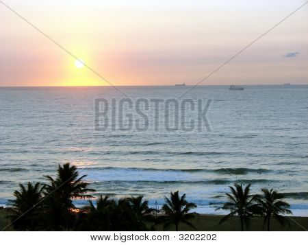 Boats Sunrise
