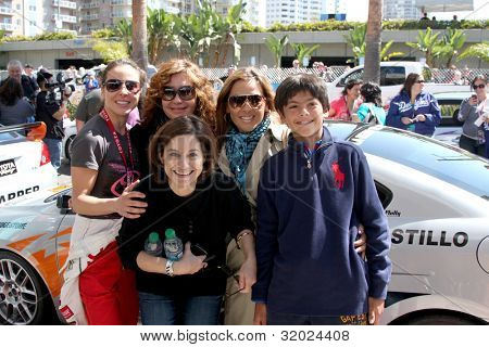 LOS ANGELES - APR 14:  Kate del Castillo, family, friends at the 2012 Toyota Pro/Celeb Race at Long Beach Grand Prix on April 14, 2012 in Long Beach, CA.