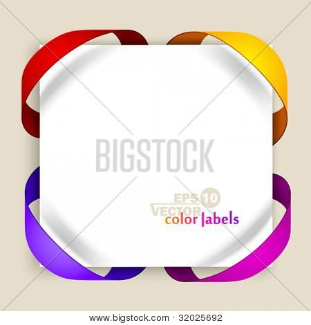 Farb-Etiketten. Vektor-illustration