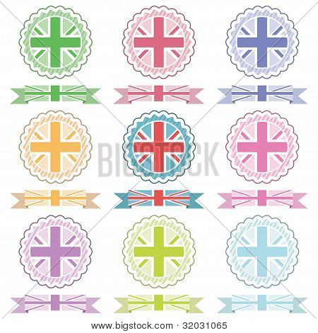 Uk Emblems And Ribbons