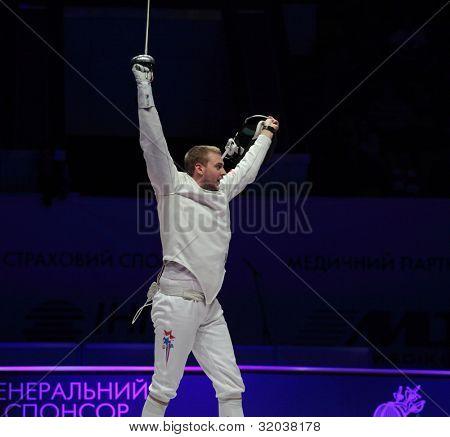 KIEV, UKRAINE - APRIL 14, 2012: Member of USA team Weston
