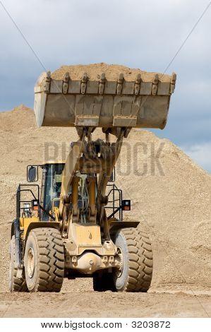 The yellow bulldozer