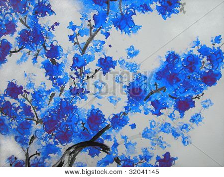 Blue Cherry Blossoms 1