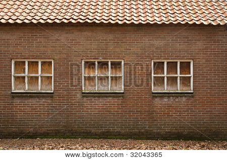 Old wall with windows