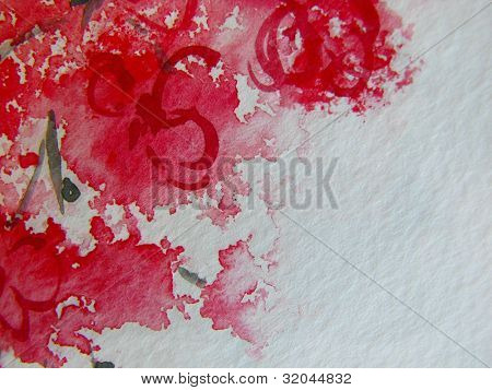 Cherry Blossoms Watercolor 1