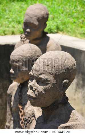 Monument to slaves in Zanzibar