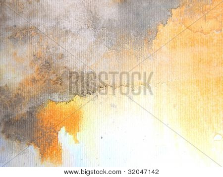 Gold and Grey Watercolor Background 1