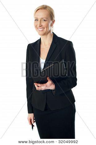 Portrait Of Beautiful Caucasian Businesswoman