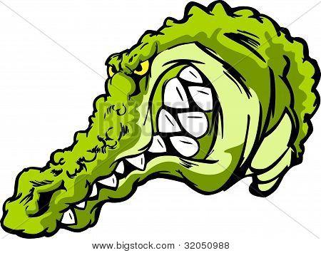 Crocodile, Gator Or Alligator Vector Cartoon Mascot
