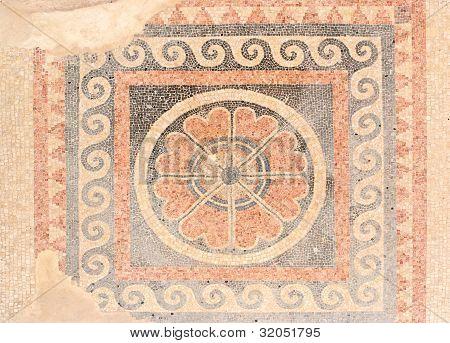 Ancient mosaic floor pattern