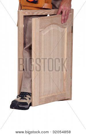 cabinetmaker and cupboard door