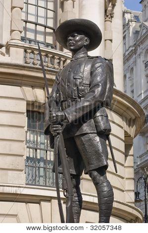 Gurkha soldado monumento, Whitehall, Londres