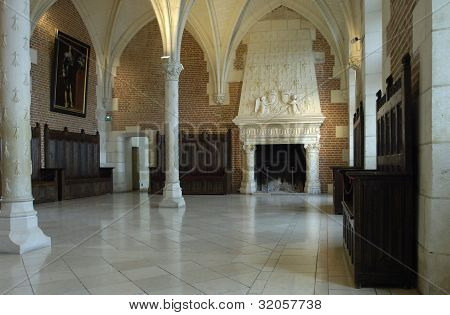 France, The Council Room In The Amboise Castle