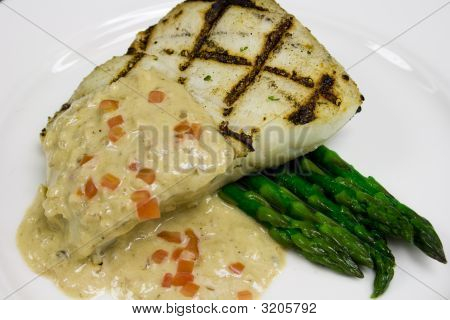 Simple Halibut Plate