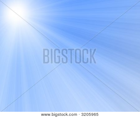 Sunlight In A Blue Sky