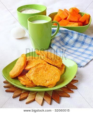 Dietary Pancakes From A Pumpkin