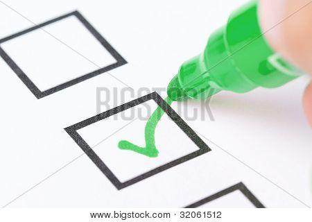 Drawing Check Mark