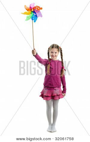 Girl With Wind Toy