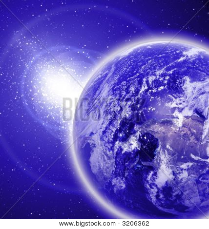 Earth In Outer Space