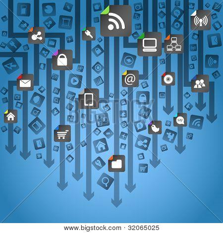 Abstrakte moderne social-Media-Schema