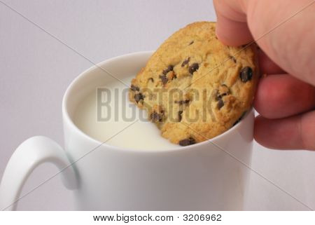 Milk And Chocolate Chip Cookie
