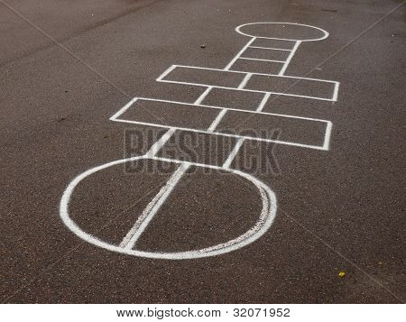 Hopscotch on schoolyard