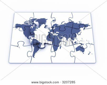 Quebra-cabeça do mundo