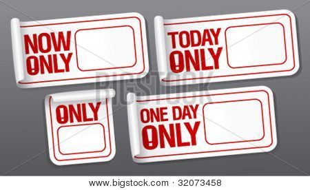 Only now stickers with empty place for price.