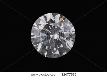 Diamond On A Black Background