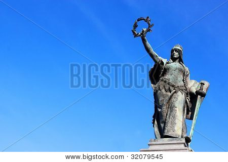 Statue in the Reconciliation Park of Arad, Romania