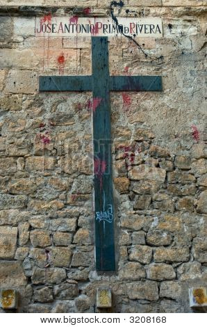 Profaned Memorial Cross