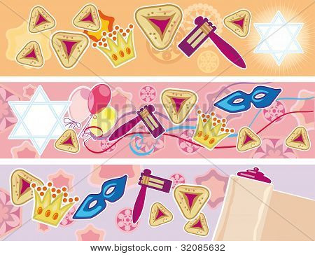 Glad Background To The Purim