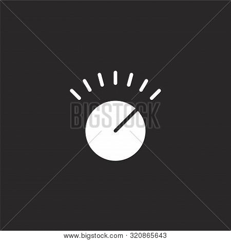 poster of Volume Control Icon. Volume Control Icon Vector Flat Illustration For Graphic And Web Design Isolate